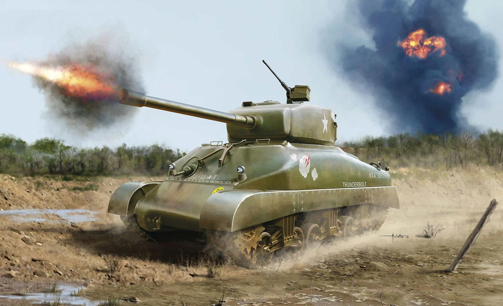 Auletta Vincenzo. Танки Sherman M4A1.
