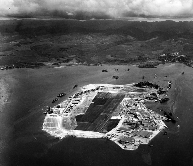 Аэрофотосъемка острова Форд. Военно-морская база. 10 октября 1941 г.