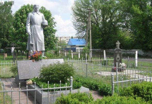 пгт. Згуровка - Горяновское Згуровского р-на. Памятник на кладбище, установленный на братской могиле советских воинов, погибших в годы войны.