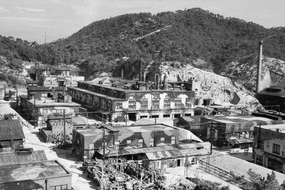 Японский завод по изготовлению химического оружия. 1946 г.