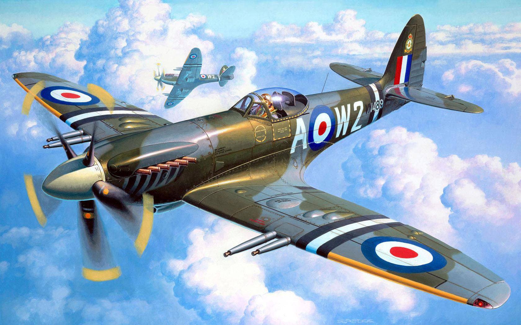 Deredos Andrzej. Истребитель Supermarine Spitfire Mk.22.