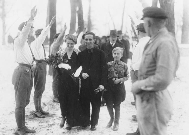 Свадьба Геббельсов в 1931 г.