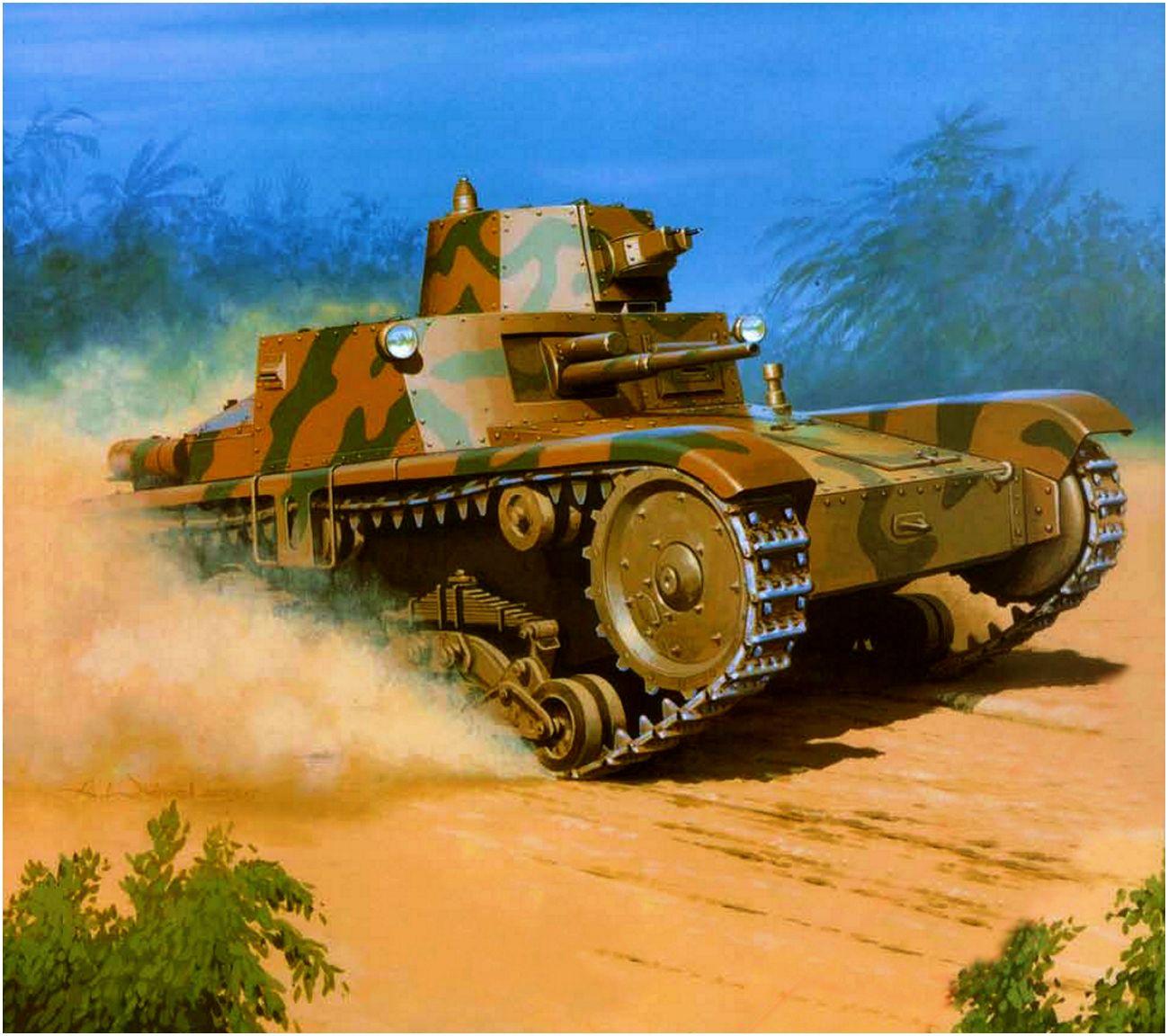 Wróbel Arkadiusz. Танк Fiat Ansaldo M11/39.