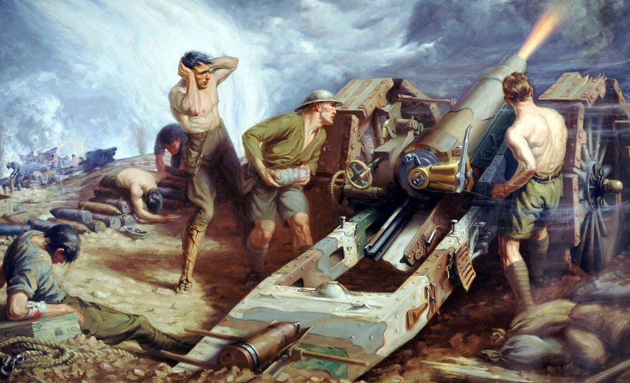 Forbes Kenneth. Канадская артиллерия в действии.