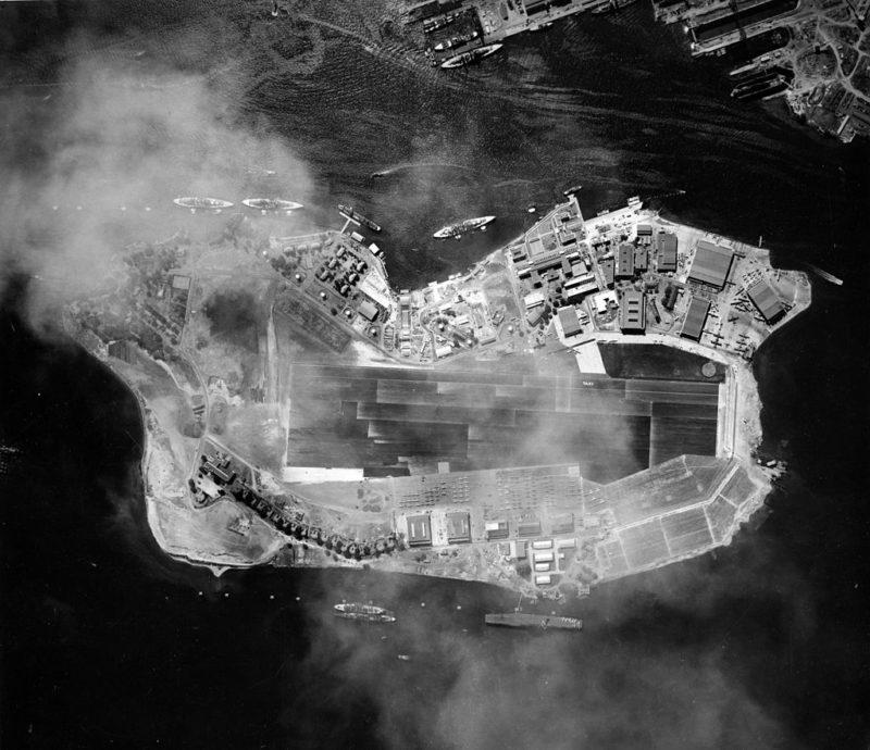 Аэрофотосъемка острова Форд. Военно-морская база. 22 октября 1941 г.