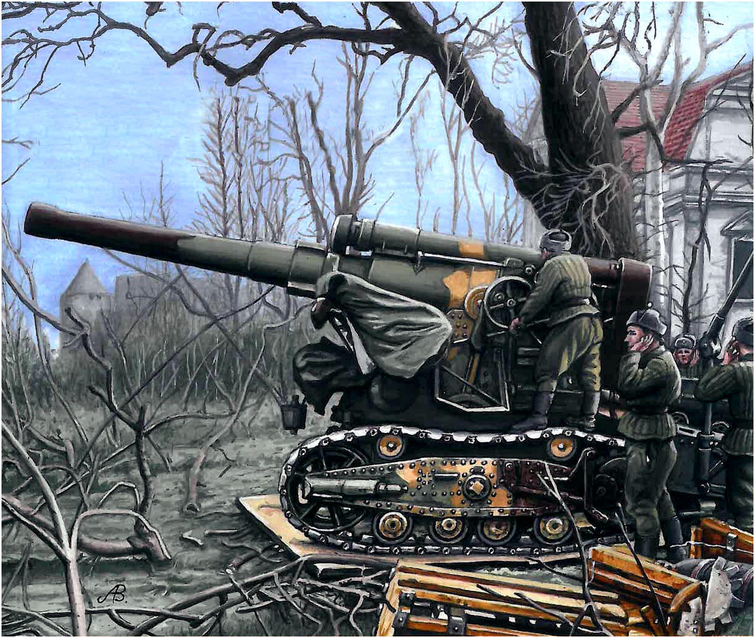 Bulczynki Arnold. 203-мм орудие БМ-4.