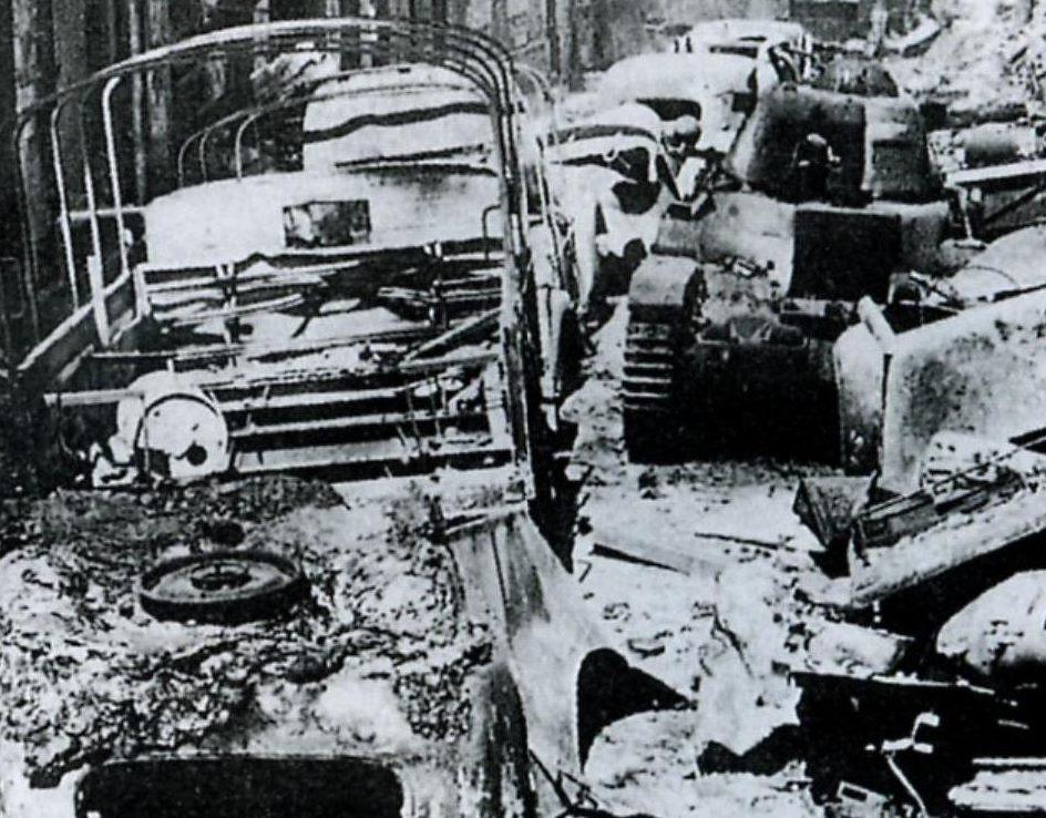 Дорога отступления на Дюнкерк. Июнь, 1940 г.