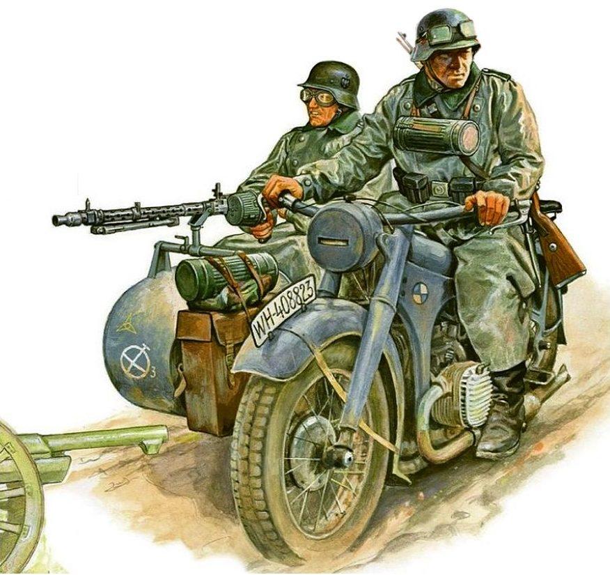 Szyzsko Marek. Немецкие мотоциклисты.