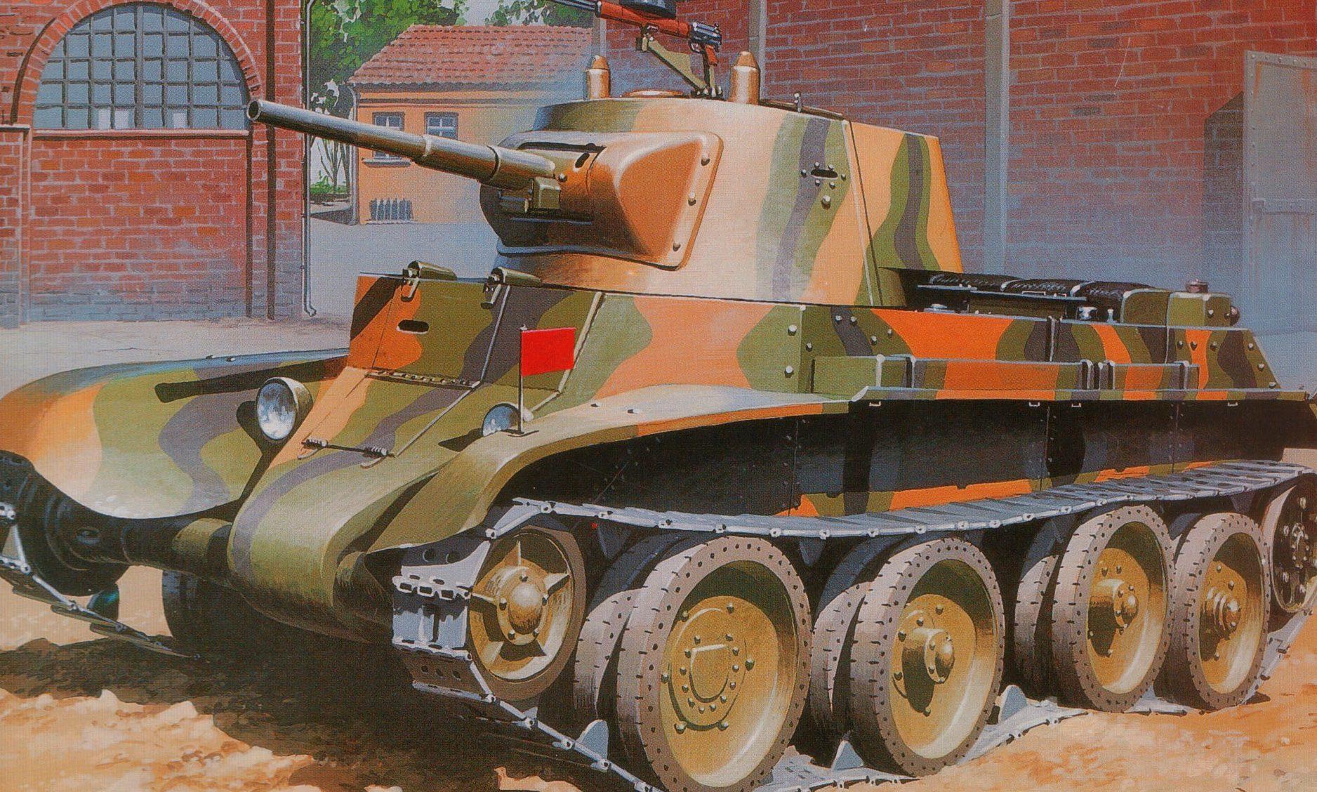 Wróbel Arkadiusz. Танк БТ-7.