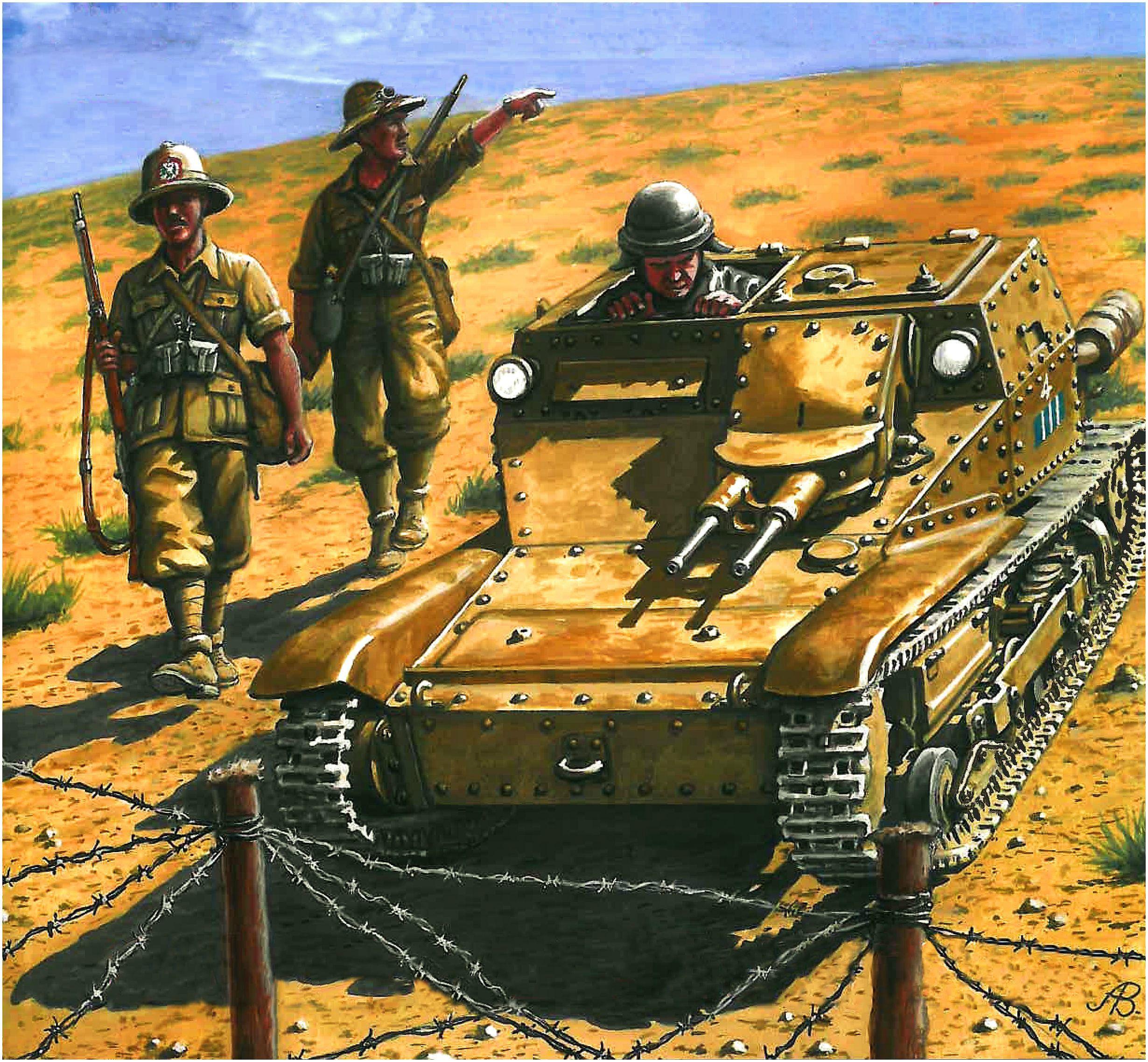 Bulczynki Arnold. Танкетка Carro Veloce CV.33/35.