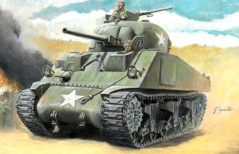 Auletta Vincenzo. Танки Sherman M4A3(75)W.