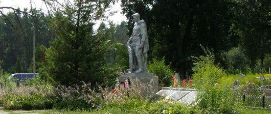 г. Фастов. Памятник на кладбище по улице Комарова, установленный на братских могилах советских, польских и чехословацких воинов, погибших при освобождении города.