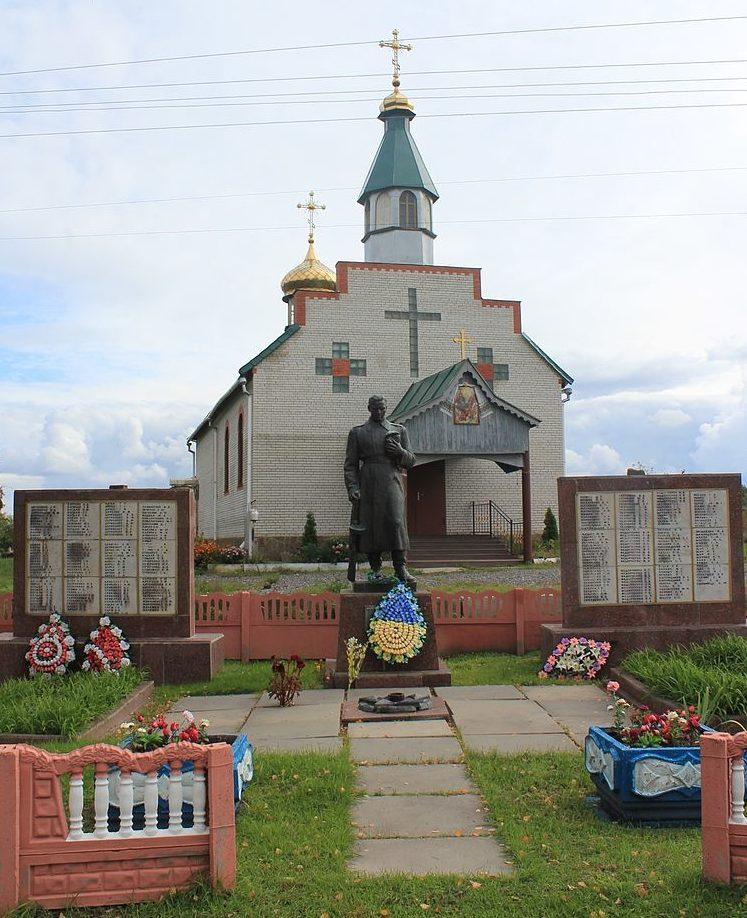 с. Веселиновка Барышевского р-на. Памятник, установленный в 1975 году на братских могилах воинов погибших в годы войны. На мемориальных стелах также увековечены имена односельчан, невернувшихся с войны.