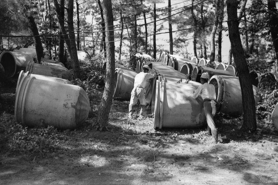 Керамические контейнеры, используемые для горчичного газа.