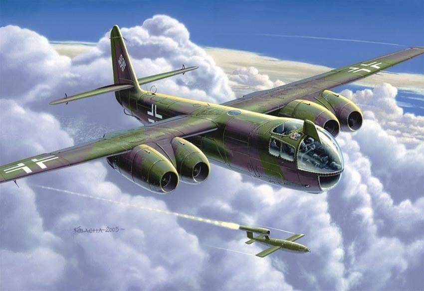 Kolacha Zbigniew. Реактивный бомбардировщик Arado Ar-234 Blitz с 4-мя двигателями