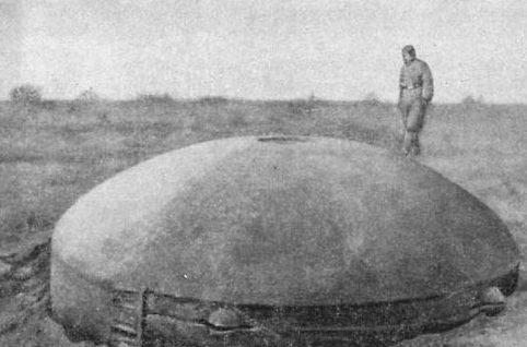 Модернизированный ДОТ с Первой мировой.