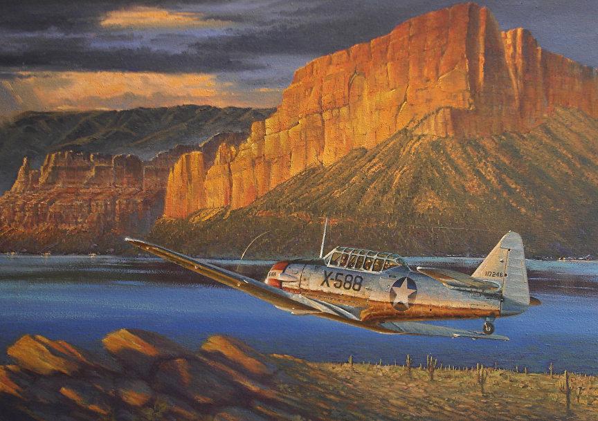 Buckland Ross. Учебный самолет AT6-B .
