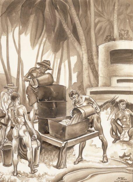 Griffin Murray. Выпаривание соли в лагере.