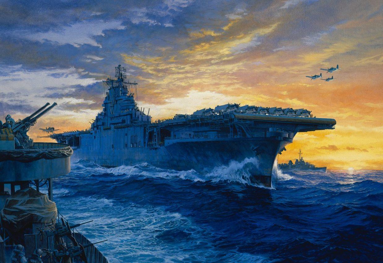 Freeman Tom. К базе. Авианосец «Yorktown».