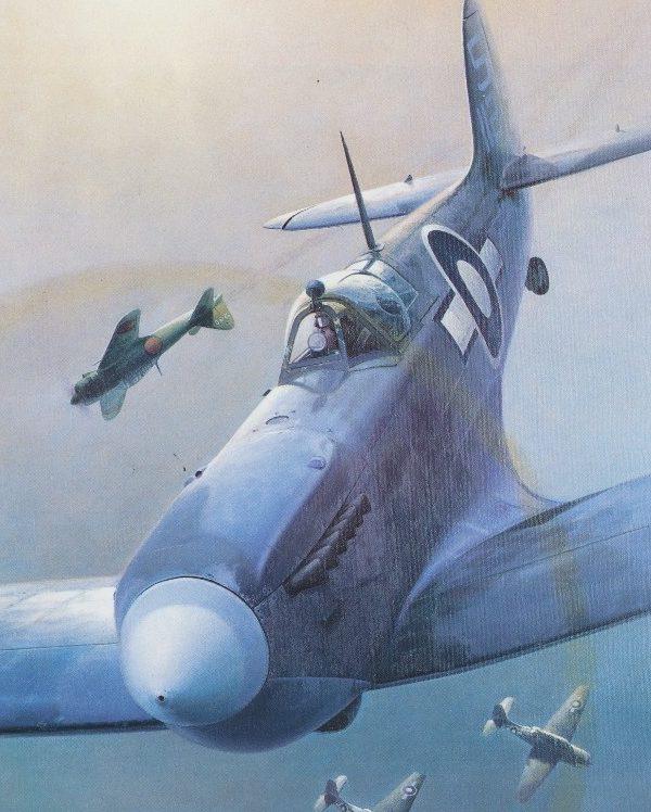 Thompson Charles. Истребитель Supermarine Seafire.