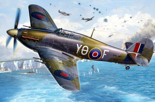 Reinis Michal. Истребитель Hurricane Mk.II.
