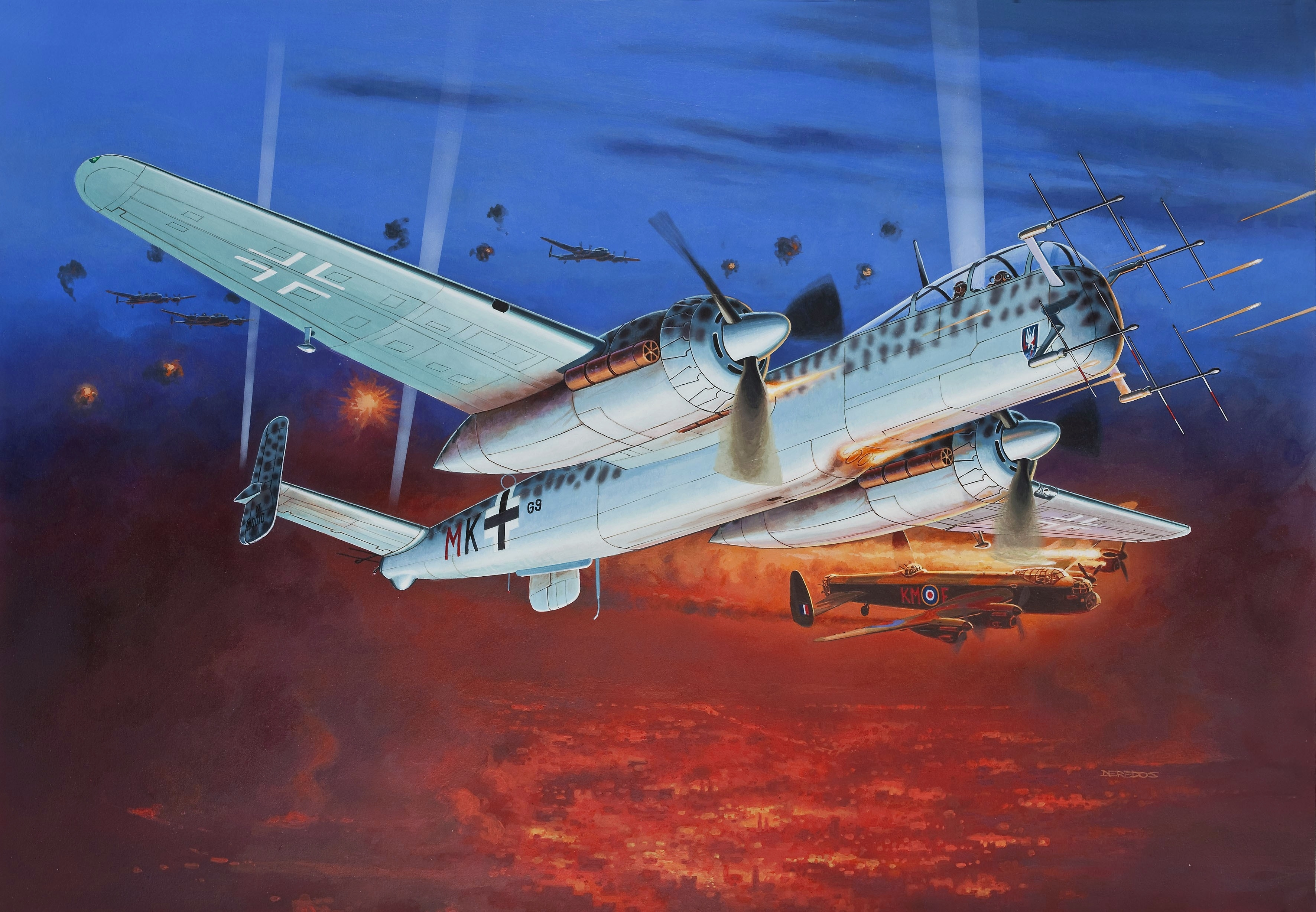 Deredos Andrzej. Ночной истребитель Heinkel He-219.