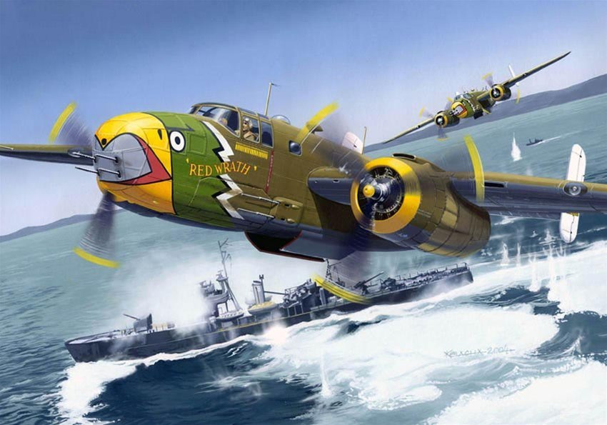 Kolacha Zbigniew. Бомбардировщик B-25J Mitchell.