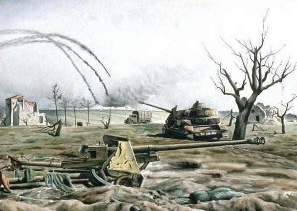Harris Lawren. Позиция противотанкового орудия.