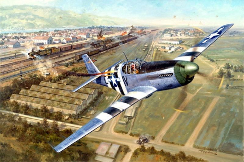 Grinell Roy. Истребитель P-51 Mustang.