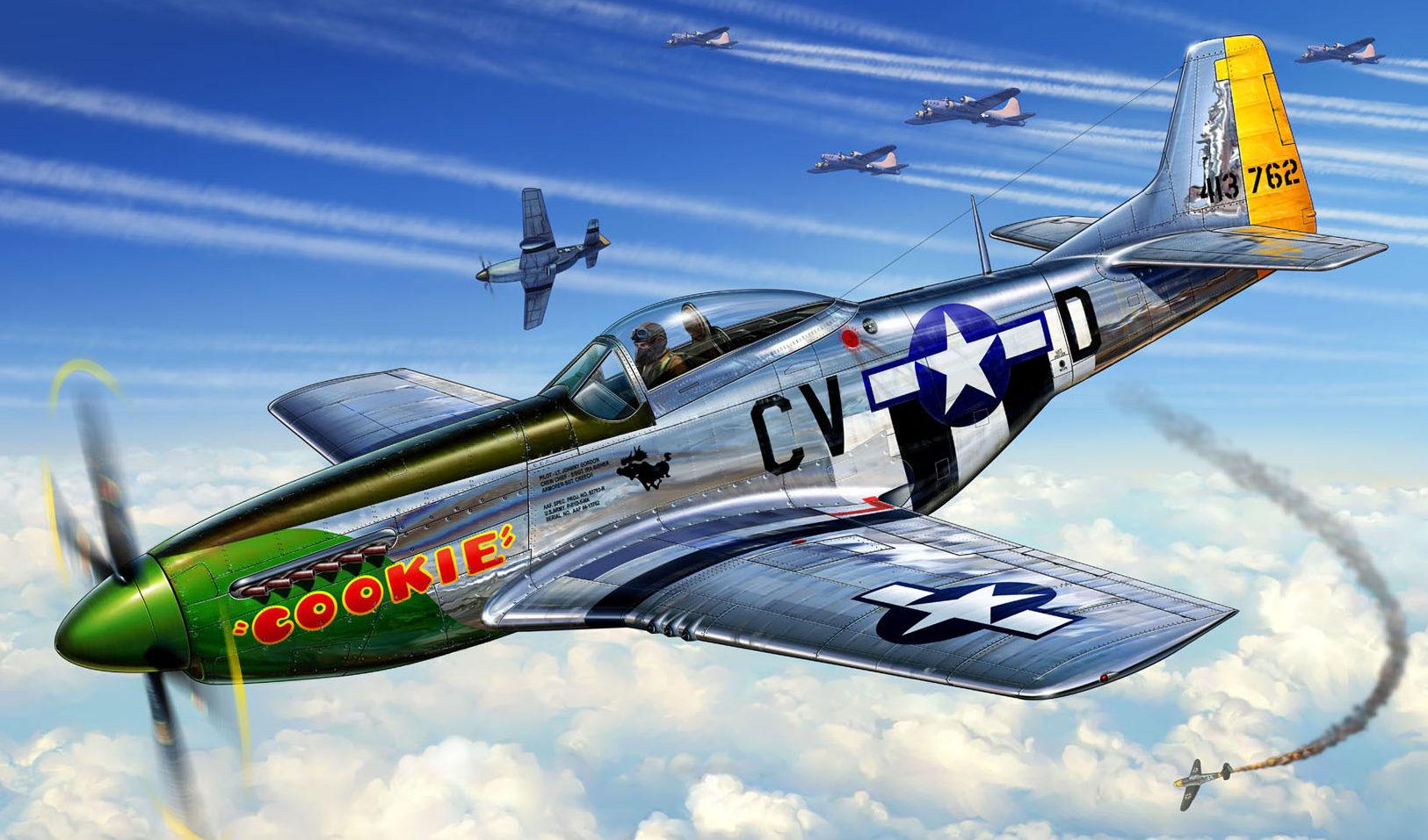 Reinis Michal. Истребитель P-51D Mustang.
