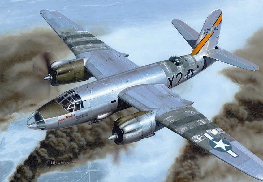 Kolacha Zbigniew. Бомбардировщик B-26 Marauder.