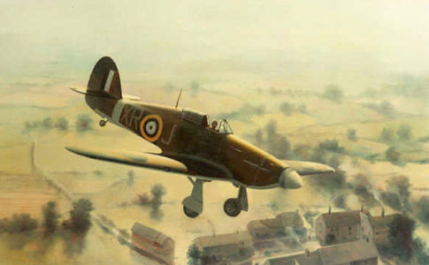 Thompson Charles. Истребители Hawker Hurricane.