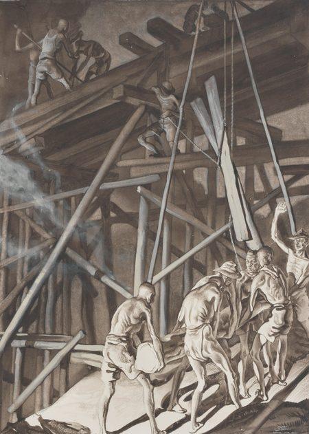 Griffin Murray. Строительство моста заключенными.