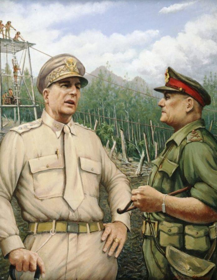 Moore Alan. Генерал Дуглас Макартур и генерал-майор С. Ален.
