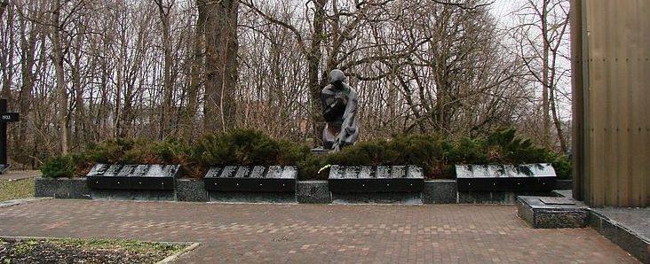 пгт. Иванков. Мемориал в парке, установленный в 1972 году на братской могиле воинов, погибших в годы войны.