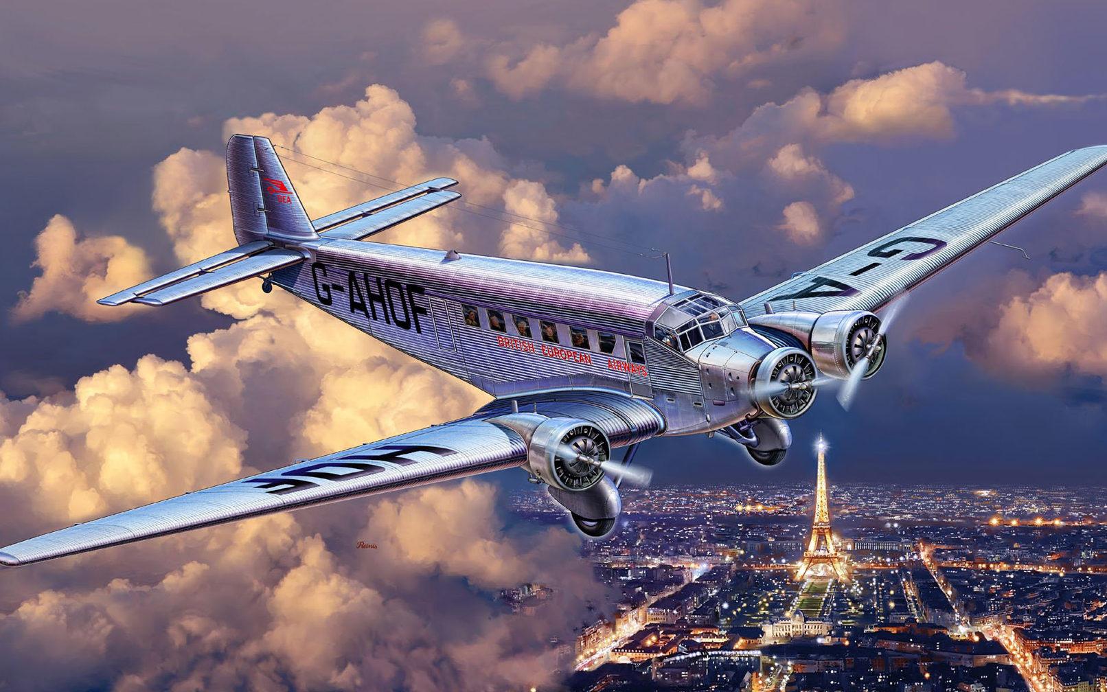 Reinis Michal. Транспортный самолет Ju-52.
