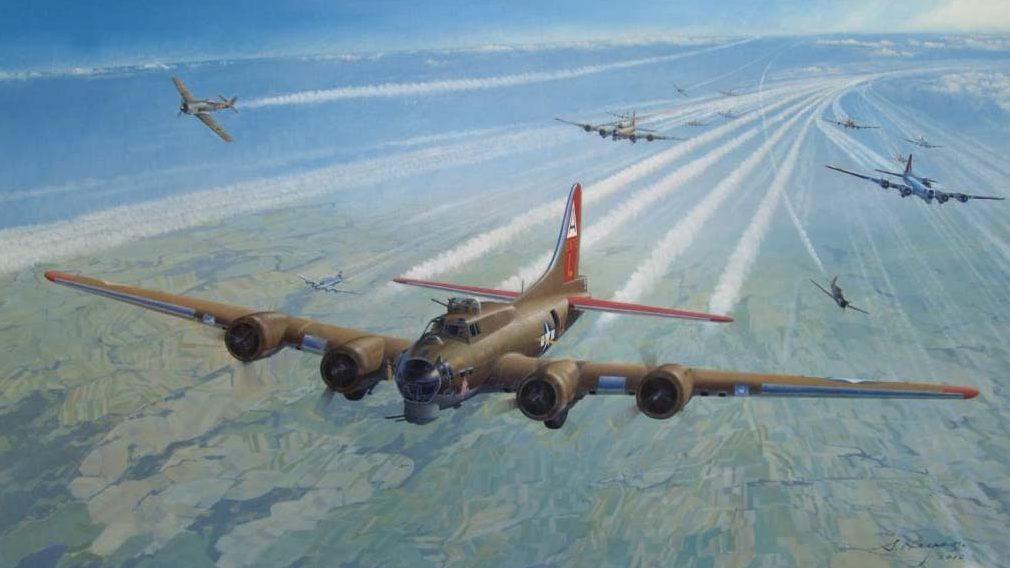 Heyen Steven. Бомбардировщик B-17.