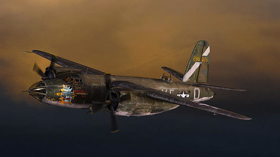 Jackson Dale. Бомбардировщик Б-26 Marauder.