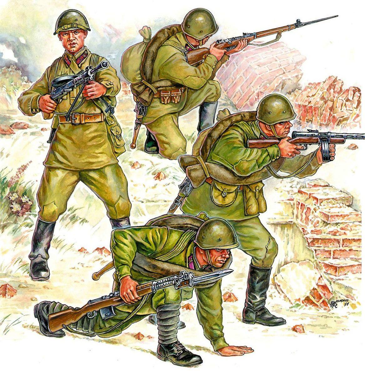 Palacios Robert. Советская пехота.