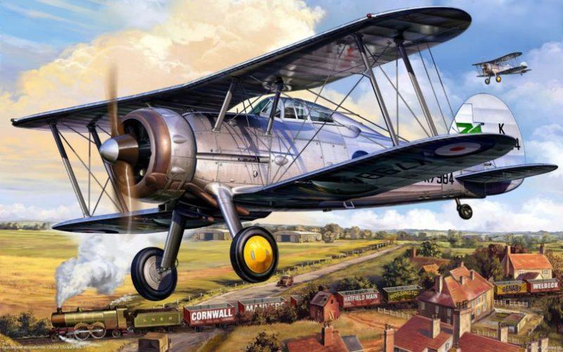 Reinis Michal. Истребитель Gloster Gladiator Mk. I.