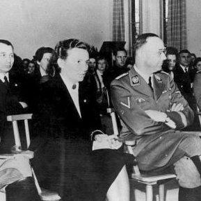 Хедвиг Поттаст и Генрих Гиммлер.