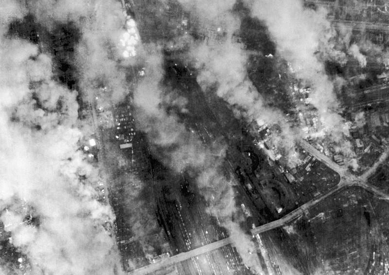 Разгорающийся Дрезден. 14 февраля 1945 г.