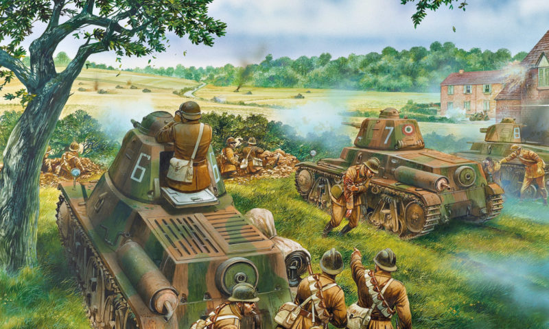 Dennis Peter. Французы отражают танковую атаку.