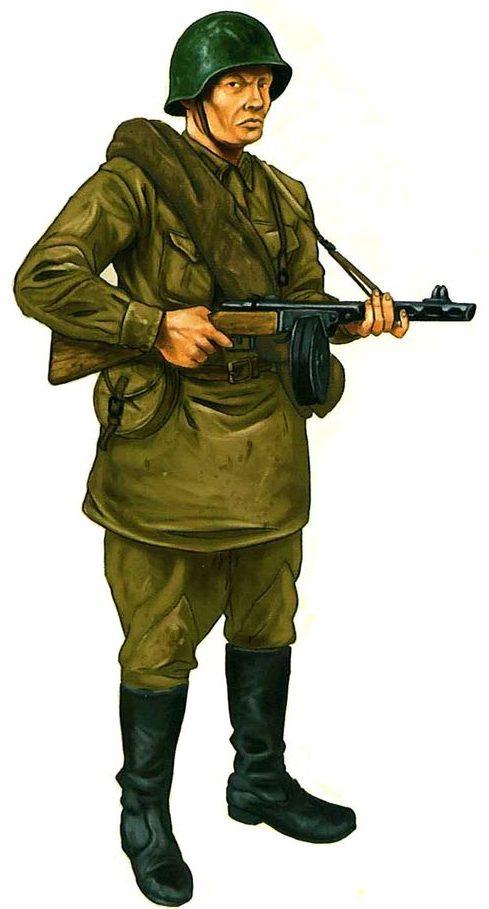 Bulczynki Arnold. Советские пехотинцы.