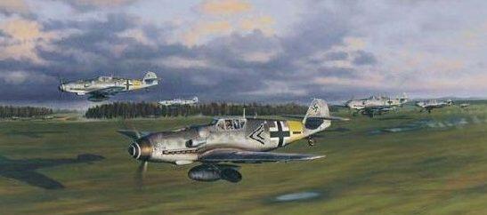 Laurier Jim. Взлет истребителей Bf-109.