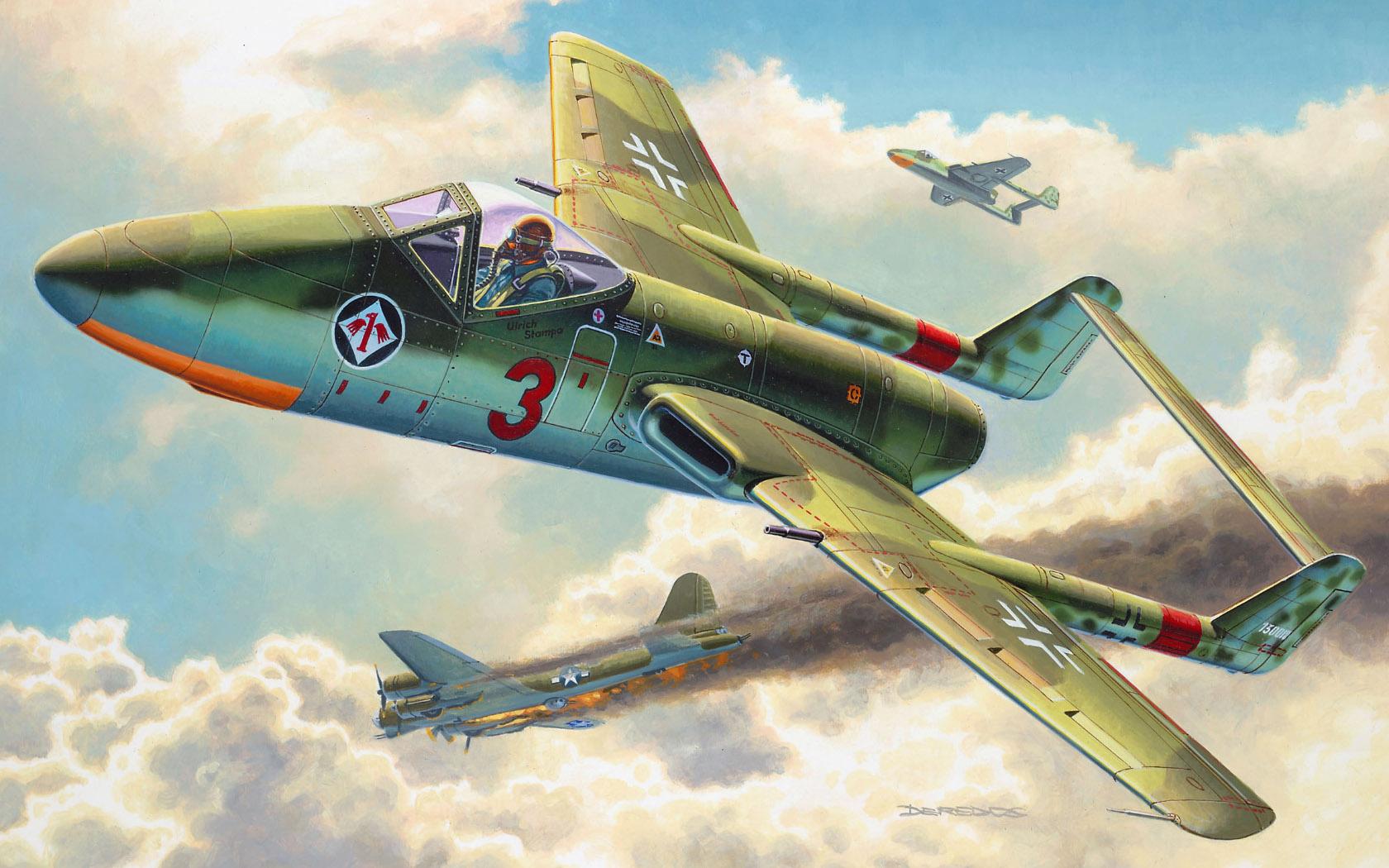 Deredos Andrzej. Истребитель Focke Wulf TL-Jager Flitzer.
