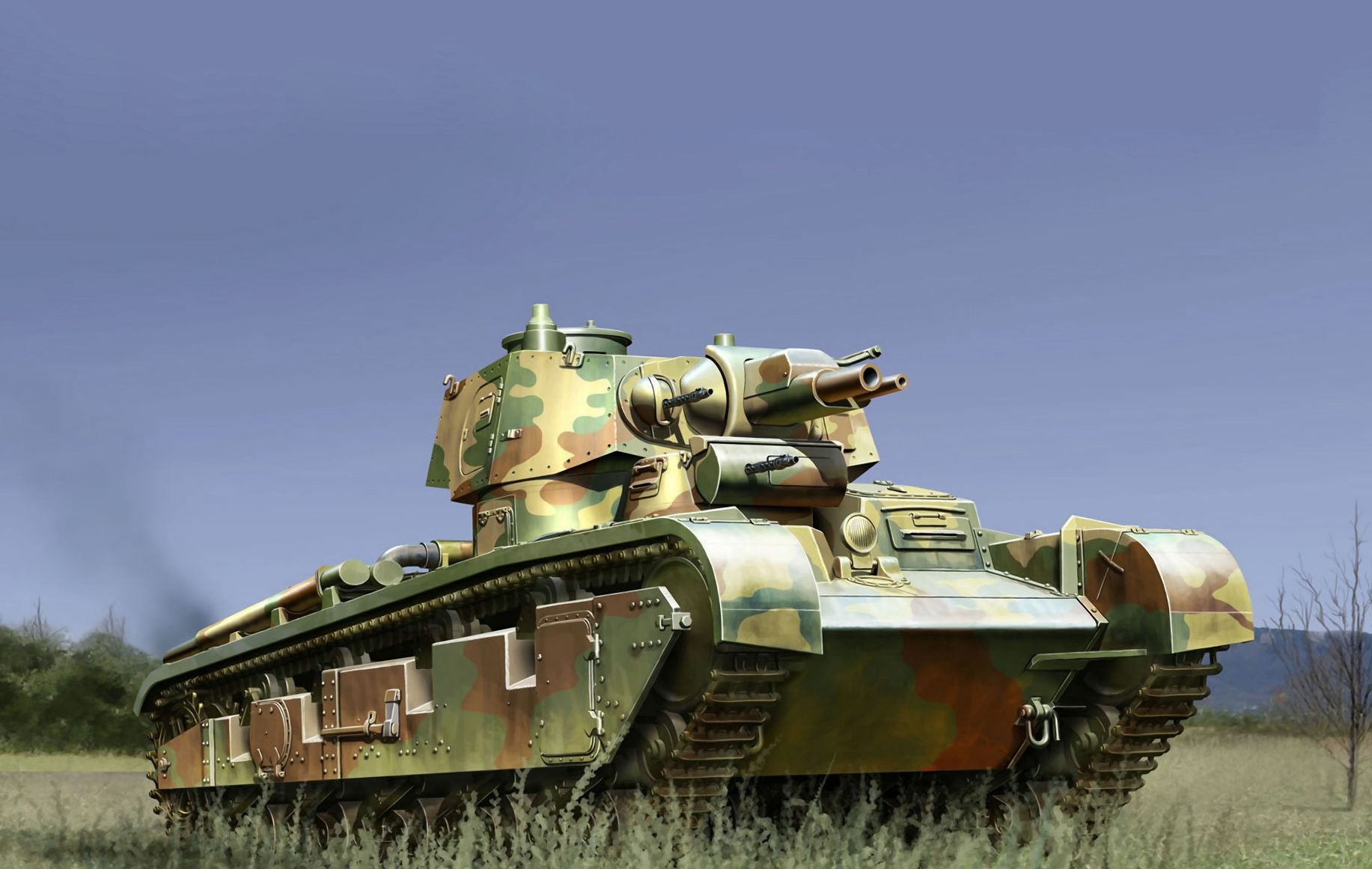Auletta Vincenzo. Средний танк Neubau-Fahrzeug №2.