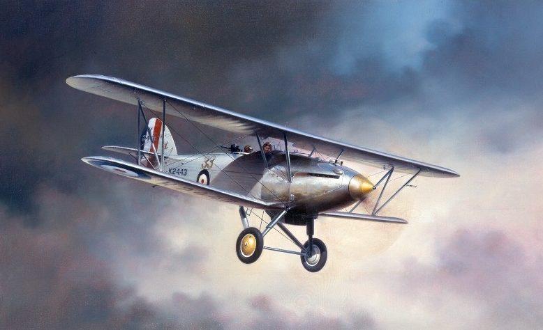 Thompson Charles. Истребитель Hawker Hart.