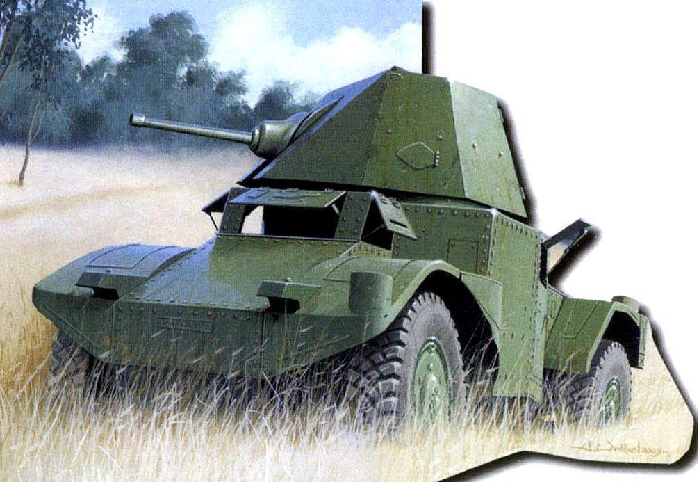 Wróbel Arkadiusz. Бронеавтомобиль Panhard 178B.