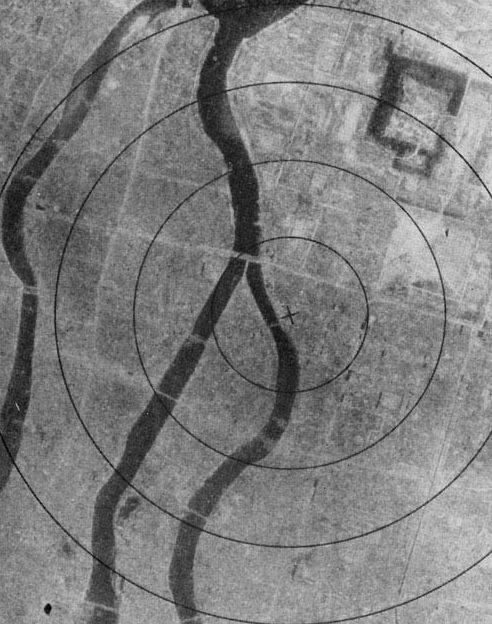 Хиросима после бомбардировки, аэрофотосъемка. 6 августа 1945 г.